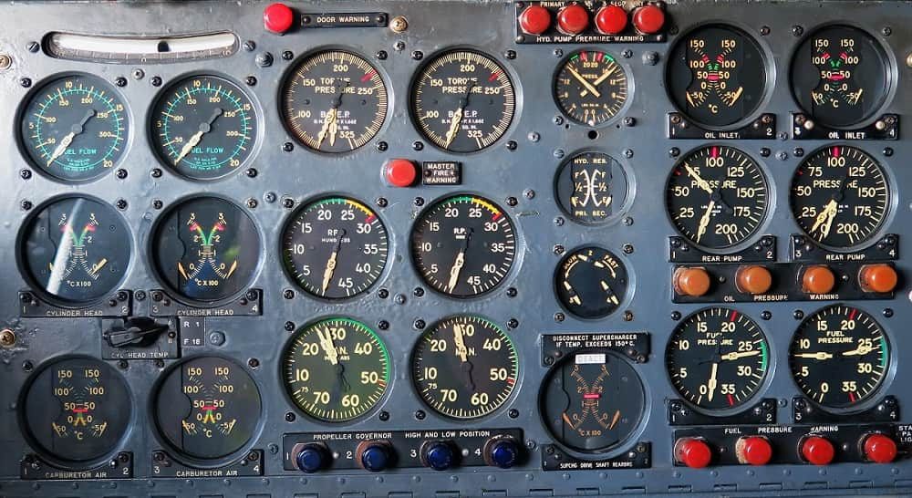 Airplane gauge exemplifying personal reputation's complexity