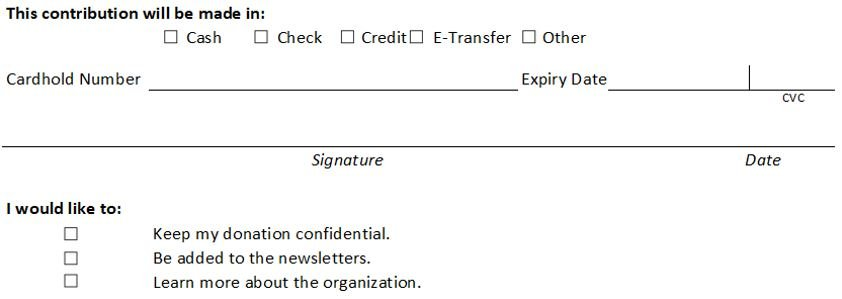 donation form middle section