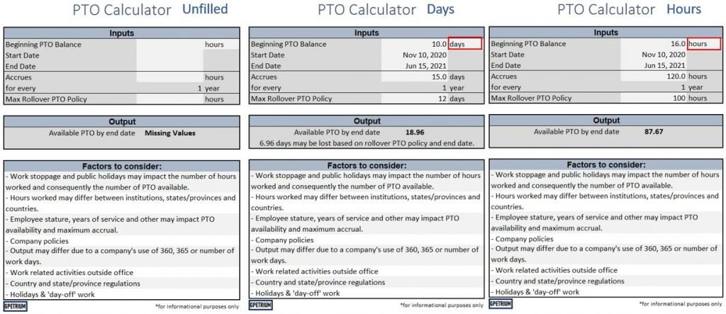 pto calculator sample of unfilled-hours-days
